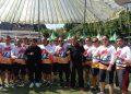 Gubernur Sulsel, HM Nurdin Abdullah (NA) didampingi Pangdam XIV Hasanuddin dan Kapolda Sulsel melepas peserta Sepeda Santai